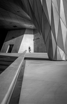Confluence - Meanwhile, at a secret SPECTRE facility in Lyon....   Confluence of concrete and modern geometrical panels, shapes and forms.