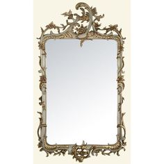 French Grey Rectangle Mirror 155cm high £300