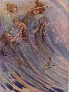 ermaids illustration by Flora White, (1913) from 'Peter Pan's ...