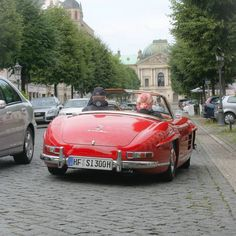 Mercedes Benz #300SL spotted in Dresden/Germany. Pic ©_photography.jh_ (instagram) / #300SLRestorations #BruceAdams190SL