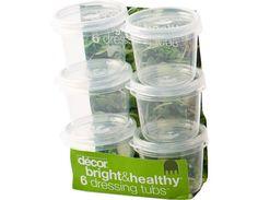 Bright & Healthy® 6 Dressing tubs™, 35 ml