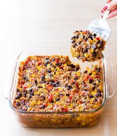 This healthy Mexican quinoa casserole is the perfect weeknight dinner – Just mix the ingredients together and throw it into the oven! With just 5 minutes of prep work, you could even try it out for dinner tonight! The recipe is super easy to make and is sure to satisfy both meat eaters and vegetarians....View The Recipe »
