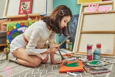 CHAEYOUNG xXx Twice. Art for Art's Sake! Very sweet heart! but I think she should stick to the day job. Don't think TWICE it's all right! Kpop Girl Groups, Korean Girl Groups, Kpop Girls, Rapper, Twice Photoshoot, Twice Album, Twice Korean, Chaeyoung Twice, K Pop Star