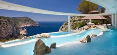 Hotel Hacienda Na Xamena, Ibiza, is a private enclave for your dream holidays. A white washed Ibiza style property, suspended on the coastal frontline, 180 Ibiza Hotel, Hotel Pool, Hotel Spa, Infinity Pools, Best Swimming, Swimming Pools, Hotel Europa, Best Summer Holiday Destinations, Piscina Do Hotel
