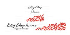 Etsy Valentine Banner Set - Etsy Banner With Shop Icon - Valentine's Day Etsy Banner - A1