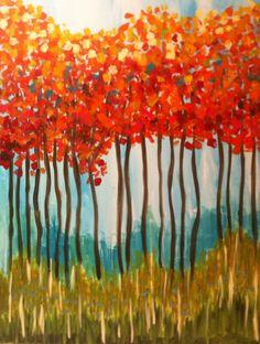 Pin by jesse behlmann on painting рисунки, живопись, картины. Fall Canvas Painting, Autumn Painting, Autumn Art, Diy Painting, Canvas Art, Painting Classes, Canvas Ideas, Large Canvas, Kunstjournal Inspiration