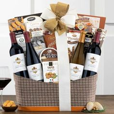 Wine Gift Baskets - Elegant Wine Gift Basket Holiday Gift Baskets, Wine Gift Baskets, Gourmet Gift Baskets, Holiday Gifts, Kendall Jackson, Thanksgiving Gifts, Wine Gifts, Corporate Gifts, Wines