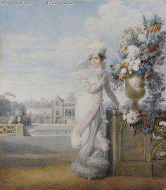Portrait de l'impératrice Joséphine 1813 – Aquarelle sur Velin.