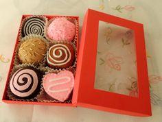 Chocolate Box Gift Felt Food eco friendly childrens by decocarin, $18.00