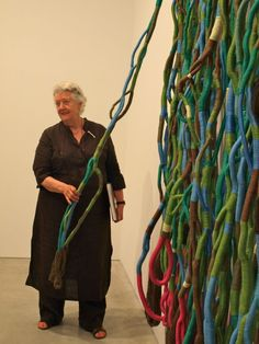 couldnt be more jealous of the residents at Textile Arts Center getting a personal tour from Sheila Hicks of her show at Sikkema Jenkins up through June 2 gotta get there Sculpture Textile, Textile Fiber Art, Textile Artists, Soft Sculpture, Textile Arts Center, Sheila Hicks, Yarn Bombing, Tapestry Weaving, Felt Art