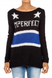 IMPERFECT - SWEATER - 240165 - BLACK http://www.commetoi.it/eshop/index.php?id_lang=8
