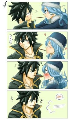 Grays face in the last panel lmao! XD Gruvia i can totally see this happening