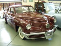 Tucker 48 'Tin Goose' Prototype This is THE prototype Tucker at the Swigart Museum. Several differences between the Tin Goose and the production cars- the rear doors are normally hinged, not suicide doors like the production cars. Read more on; http://www.deviantart.com/morelikethis/278968777?view_mode=2