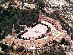 Vista aérea Plaza de España, Sevilla. #Sevilla #Seville #sevillaytu @Sevilla&Tú