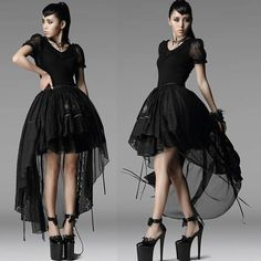 Black Lace Short Sleeve Gothic Lolita Fashion Clothing Shirt Blouse SKU-11407262