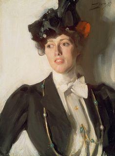 Марта Дана (позднее жена Вильяма Мерсера). Андерс Цорн. Описание картины, скачать репродукцию.