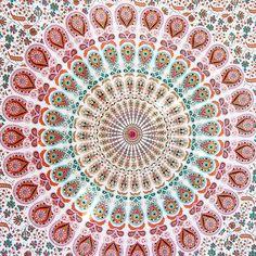 New Peacock Pattern Mandala Tapestry
