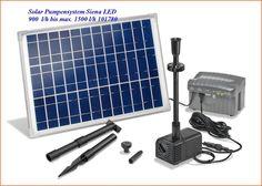 Solar Teichpumpe Siena LED+Akkubox Förderleistung von 900l/h bis 1500 l/h 101780