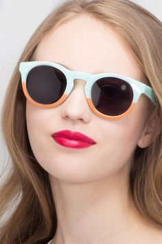 d25d73defa4 Sunset Light Blue Plastic Sunglasses from EyeBuyDirect. Exceptional style  and quality at a great price