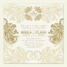 """Svadobné oznámenie """"Luxusná svadba"""" je luxusné svadobné oznámenie. Oznámte svadbu originálne. Môžete si ho prispôsobiť podľa vlastných predstáv."""