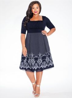 Hayleigh Plus Size Dress in Midnight Blue