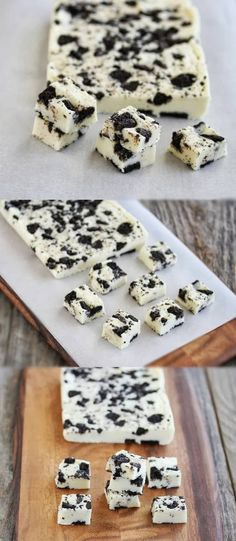 5 Minute Cookies and Cream Fudge. Haven't tried this one yet, but GF sandwich cookies are an easy substitution that don't add more time. Will have to make this soon.
