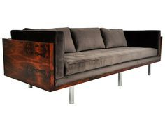 Milo Sofa Dfs And Cuddle Chair Baughman Model 1038 1970 Leather Randolph Gerner Wood Frame Sofas