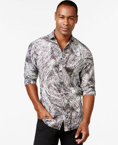 Inc International Concepts Samuel Long-Sleeve Printed Poplin Shirt, Only at Macy's
