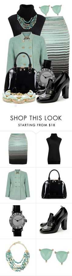 """""""Winter Mint! *Outfit Only* (1) (and black)"""" by queenrachietemplateaddict ❤ liked on Polyvore featuring Missoni, 3.1 Phillip Lim, Yumi, Relaxfeel, Tiffany & Co., Chanel, Sequin, Lonna & Lilly, Slate & Willow and jewelry"""