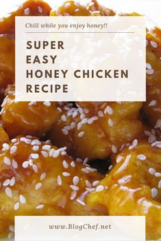 This incredible Chinese honey chicken is great for family parties. Its sweet and kids love it. Brandi Alderin blboehm Meals and Sides This incredible Chinese honey chicken is great for famil Honey Sauce For Chicken, Chinese Honey Chicken, Crispy Honey Chicken, Honey Sesame Chicken, Fried Chicken, Easy Chinese Recipes, Asian Recipes, Oriental Recipes, Chinese Chicken Recipes