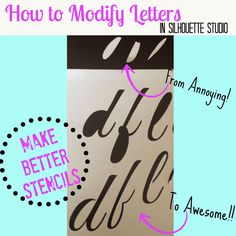 Silhouette School: Silhouette Tutorial: Modifying Fonts to Eliminate the Annoying 'Middles' (ie A, B, D)