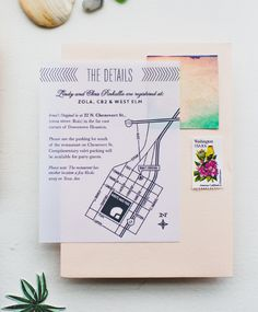 Modern Fiesta Wedding Celebration Invitations by Charm and Fig / Oh So Beautiful Paper