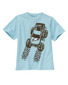 Kids Clothes, Baby Clothes, Toddler Clothes at Gymboree Toddler Outfits, Boy Outfits, Cute Outfits, Kids Pjs, Fashion Graphic, Boys T Shirts, Boy Fashion, My Boys, Monster Trucks