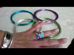 Otro anillo de alambre este tipo de anillos les gusta mucho a las niñas   espero que os guste a vosotr@s tambien .