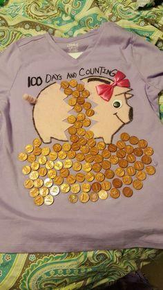 Ava's 100th day of school shirt 2017.