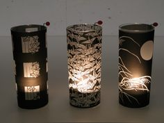 Make a last-second gift, with long drink glasses (possibly used ones), tracing paper (or inkjet transparencies) and tee lights. It's really easy! You can change of design whenever wanted, or revert the glasses to their initial function. How are the candles placed and lit? read on... If you like this instructable, please vote for it! TiA. UPDATE Jan 13, 2010: Runner-up position in the Homemade Holidays Contest! A big thank you to all who voted for this entry!