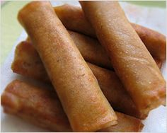 Cha Gio (Vietnamese spring rolls), one of the foods of my childhood. My aunt Oanh usually made them with rice paper.