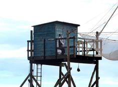 LEVALET -Corne de brume Encre de chine sur kraft sur cabane de pêcheur. Rencontre des arts fous - Fouras