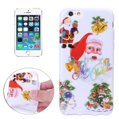 [$1.30] Merry Christmas Santa Claus Snowman Small Bell Pattern TPU Protective Case for iPhone 5 & 5s