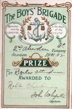 Crossfox | Aberdeen Boys Brigade Attendance Prize book 1901/2