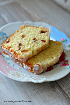QUICK EASY CHERRY BAKEWELL LOAF Sponge Cake Recipes, Apple Cake Recipes, Tart Recipes, Baking Recipes, Dessert Recipes, Baking Tips, Yummy Recipes, Desserts, Gluten Free Almond Cake