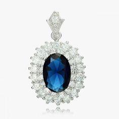Sapphire Solitaire CZ Pendant