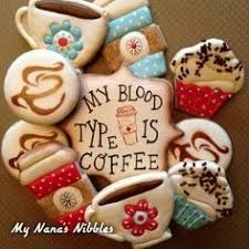 Image result for decorated coffee cookies