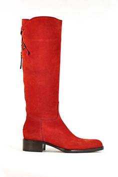 Sartore Tall Suede Boot in Red... $1125