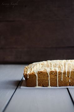 This Eggnog Poundcake with Rum Glaze is moist, dense, sweet and eggy. It's a fabulous holiday dessert!