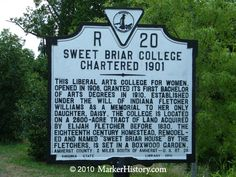 """Sweet Briar College Charted 1901 R-20 