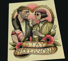 Image of Stay Professional Tattoo Art Print by Quyen Dinh