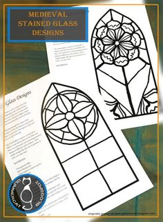 Medieval Stained Glass Craft - We have been doing some fascinating activities for our Medieval History unit, ( Viking Runes , Medi - Medieval Crafts, Medieval Art, History Medieval, Medieval Times, Church History, Women's History, European History, British History, Ancient History