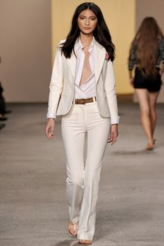 I'm not gonna lie, I want a fly suit for the after party. Paul  Joe Spring 2011. love white women suits.