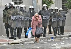Police and old woman.In Greece Police Ice, Riot Police, Top Channel, Trees To Plant, Greece, Images, Hats, Athens, Greek Woman